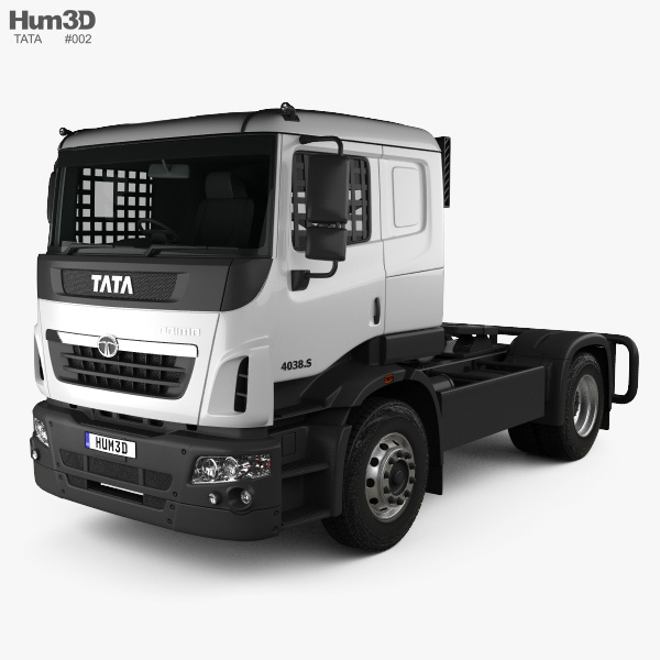 3D model of Tata Prima Tractor Racing Truck 2009
