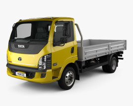 3D model of Tata Ultra 714 Flatbed Truck 2012