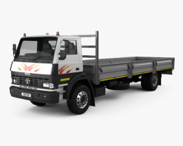 3D model of Tata LPT 1518 Flatbed Truck 2019