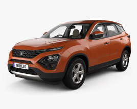 3D model of Tata Harrier with HQ interior 2019