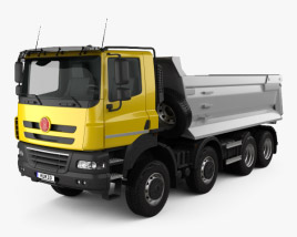3D model of Tatra Phoenix Tipper Truck 4-axle 2011