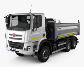 3D model of Tatra Phoenix T158 Tipper Truck 3-axle 2014