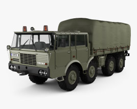 3D model of Tatra 813 Double Cab KOLOS Truck 1967