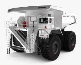 3D model of Terex Unit Rig MT6300 AC Dump Truck 2008