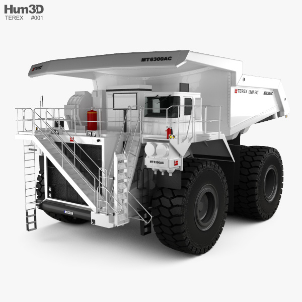 Terex Unit Rig MT6300 AC Dump Truck 2008 3D model