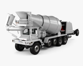 3D model of Terex FDB 6000 Mixer Truck 2018