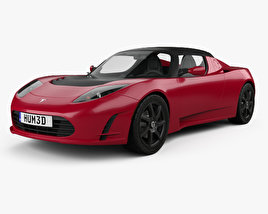 3D model of Tesla Roadster 2011