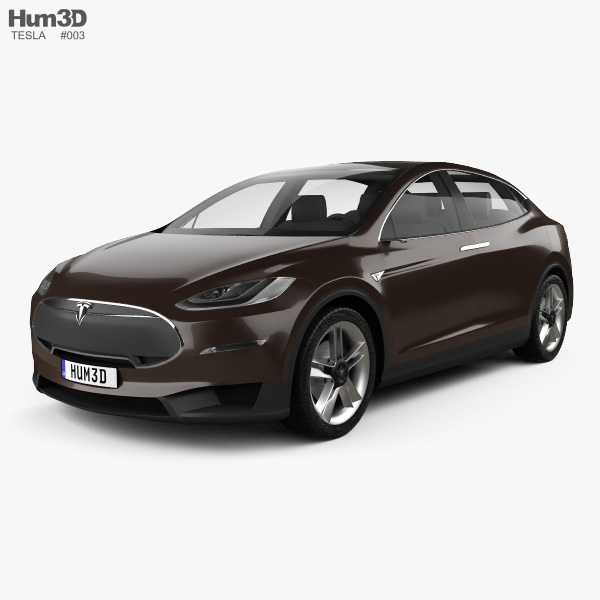 3D model of Tesla Model X Prototype 2014