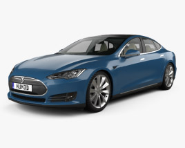 3D model of Tesla Model S with HQ interior 2014