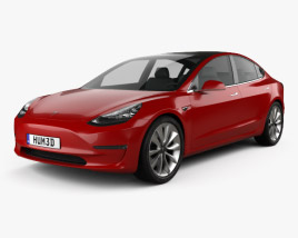 3D model of Tesla Model 3 Prototype 2016