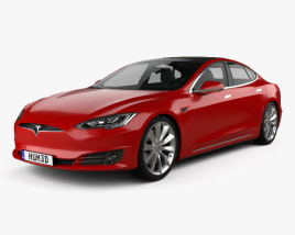 3D model of Tesla Model S P90D 2016