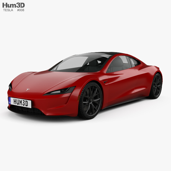 3D model of Tesla Roadster 2020