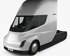 3D model of Tesla Semi Sleeper Cab Tractor Truck 2018