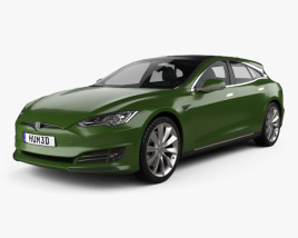 3D model of Tesla Model S RemetzCar Shooting Brake 2018