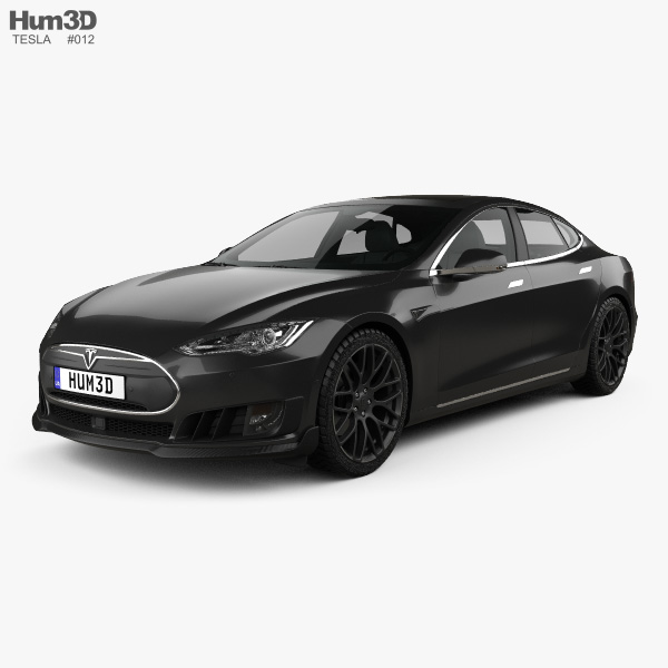 3D model of Tesla Model S Brabus 2016
