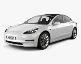 3D model of Tesla Model 3 2018