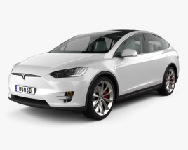 3D model of Tesla model X with HQ interior 2016