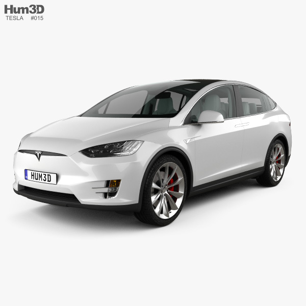 Tesla model X with HQ interior 2016 3D model