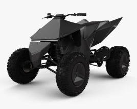 3D model of Tesla Cyberquad ATV 2019