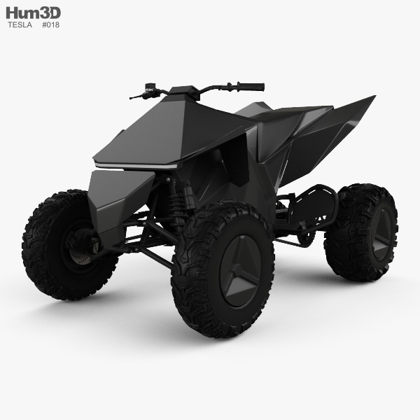 Tesla Cyberquad ATV 2019 3D model