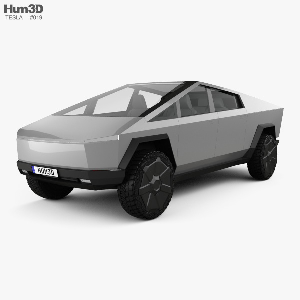 3D model of Tesla Cybertruck 2019