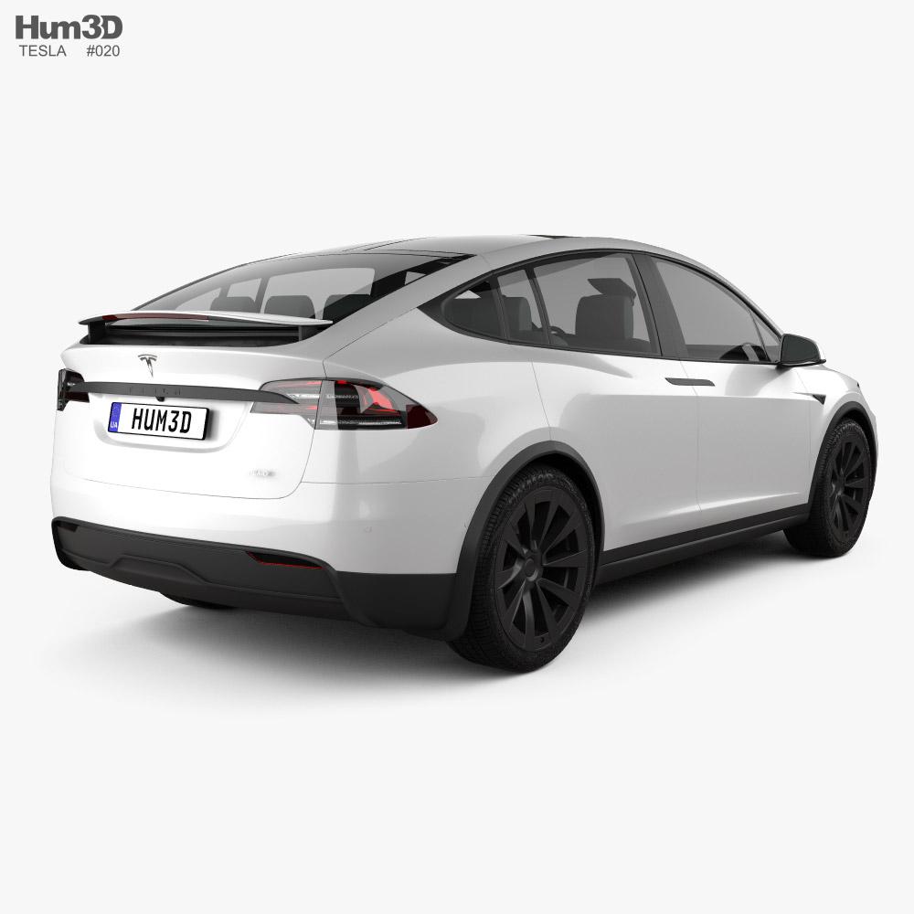 Tesla Model X Plaid 2021 3d model back view