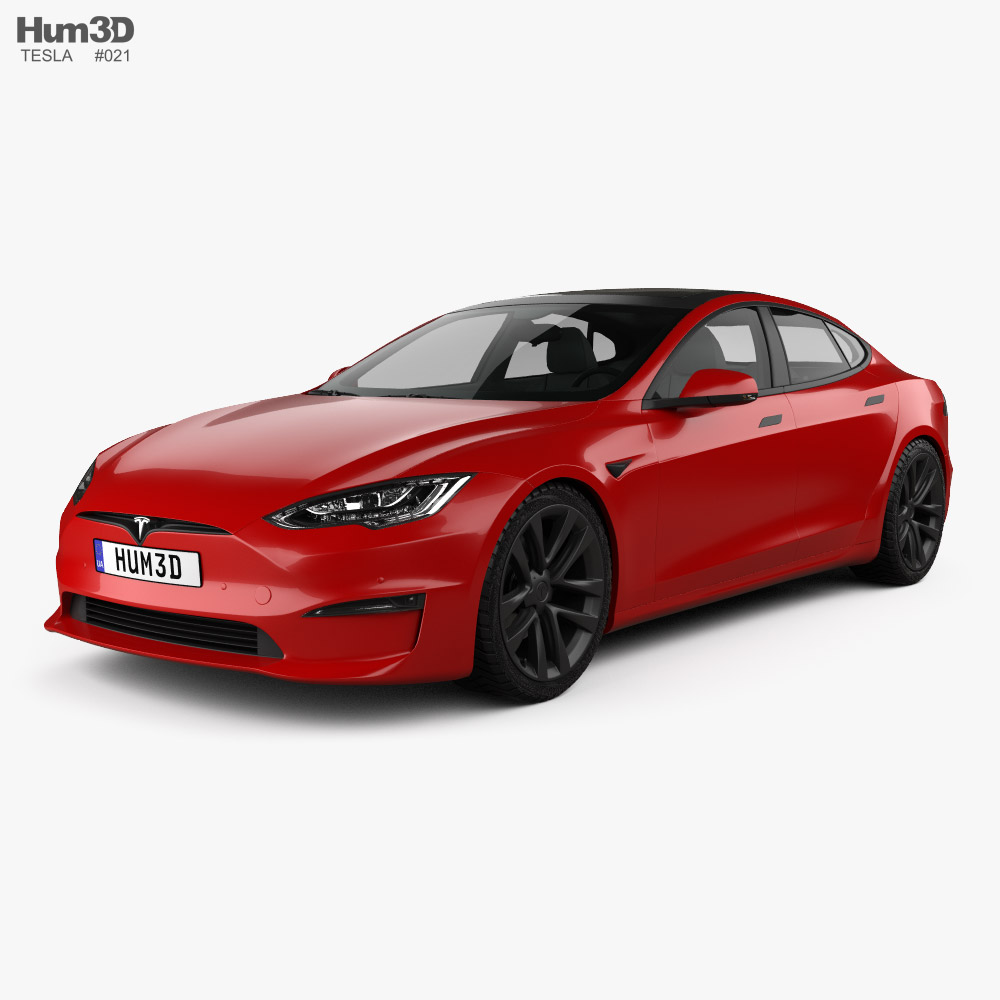 Tesla Model S Plaid 2021 3D model