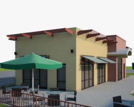 Test trial restaurant 3D model