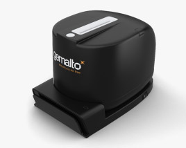 3D model of Thales Gemalto CR5400 ID Card Reader