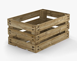 3D model of Fruit Crate