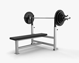 3D model of Weight Training Bench