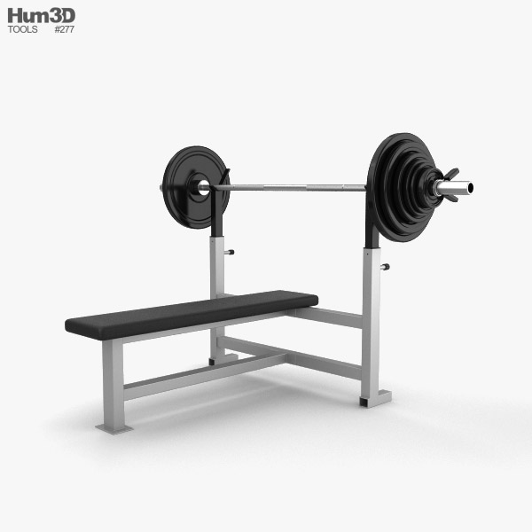 Weight Training Bench 3D model