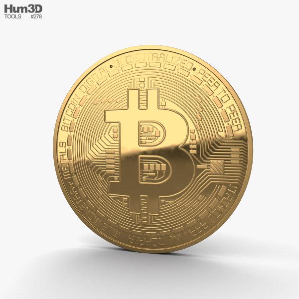 3D model of Bitcoin
