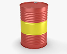 3D model of Oil Barrel