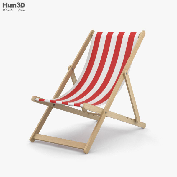 3D model of Deck Chair