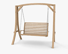 3D model of Wooden Swing Chair