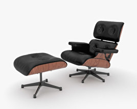 3D model of Eames Lounge Chair