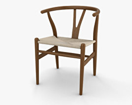 3D model of Wishbone Chair