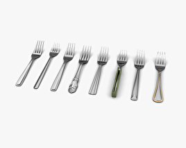 3D model of Fork