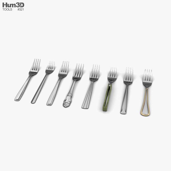 Fork 3D model