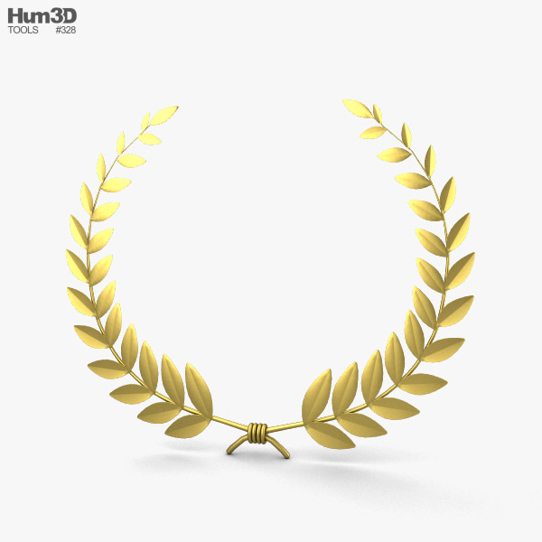 Laurel Wreath 3D model