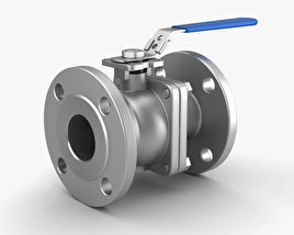 3D model of Flanged Ball Valve