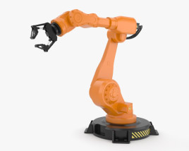 3D model of Industrial Robot Arm