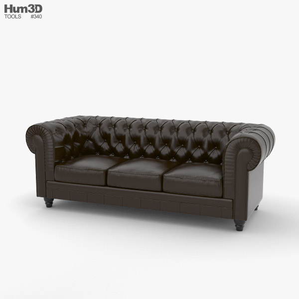 Chesterfield Sofa 3D model