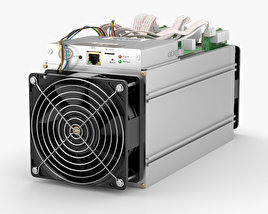 3D model of Antminer Cryptocurrency Mining Hardware
