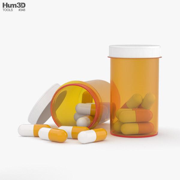 Pill Bottle 3D model