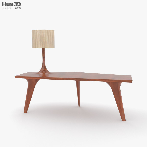 Console Table with Lamp 3D model