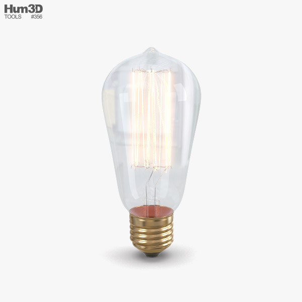 Edison Bulb 3D model
