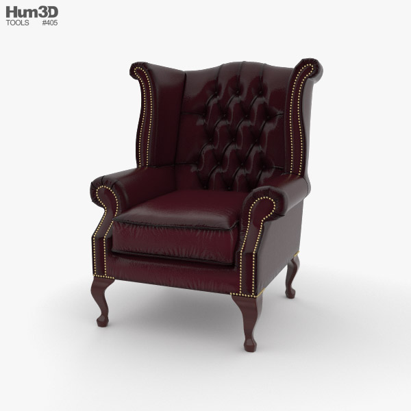 3D model of Wingback Chair