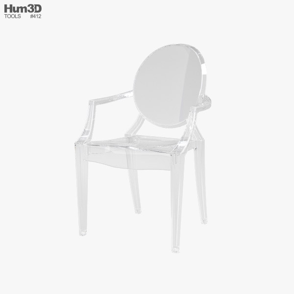 3D model of Ghost Chair